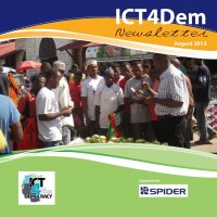 ICT4Dem_Aug2013_Newsletter_Front page