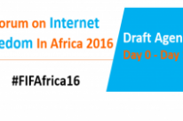#FIFAfrica16: Agenda – Day 0 to Day 1