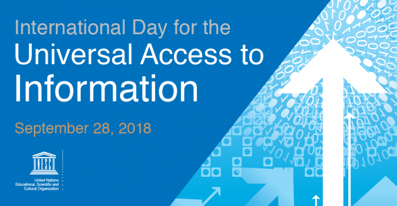 Marking the International Day for Universal Access to Information (IDUAI) at FIFAfrica18