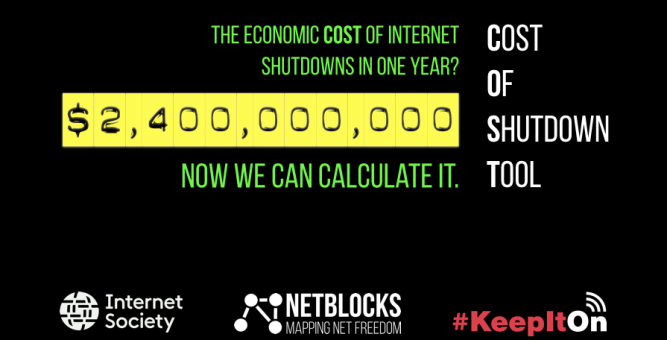 NetBlocks and the Internet Society Launch Tool to Calculate the Cost of Internet Censorship Worldwide