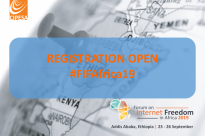 Register for the Forum on Internet Freedom in Africa 2019 (#FIFAfrica19)