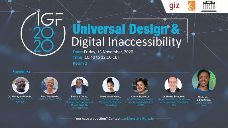 CIPESA to Participate in IGF 2020 Session on Universal Design and Digital Inaccessibility