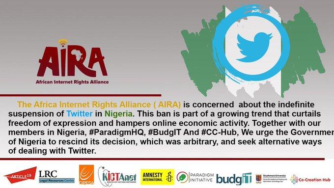 CIPESA, AIRA Stand Against Twitter Ban In Nigeria